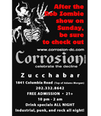 Corrosion Zombie flyer